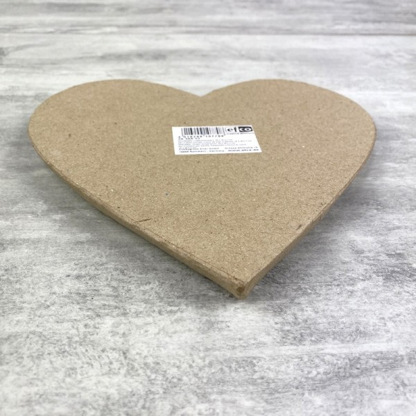 Coeur plat en papier mâché, 20 cm x h. 2 cm, à décorer - Photo n°4