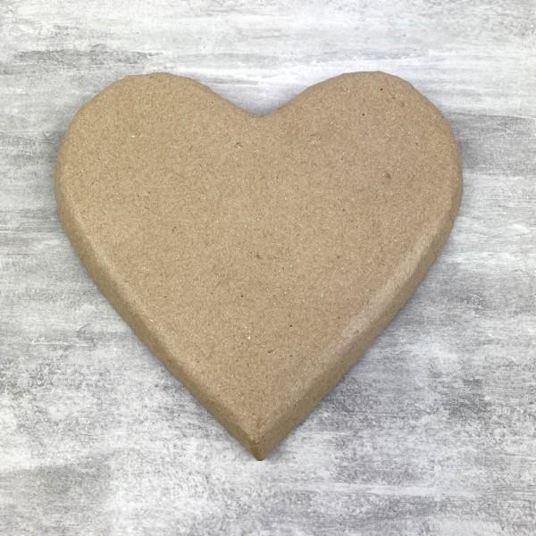 Coeur plat en papier mâché, 20 cm x h. 2 cm, à décorer - Photo n°1
