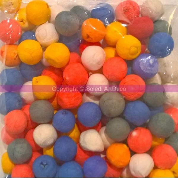 Lot de 500 boules dancing en papier coloré, diam. 1,5 cm, Fête, Carnaval - Photo n°2