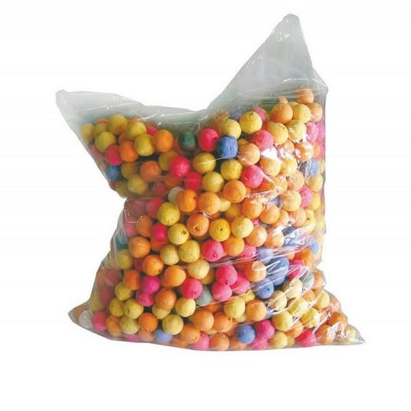 Lot de 500 boules dancing en papier coloré, diam. 1,5 cm, Fête, Carnaval - Photo n°1