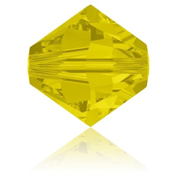 Toupie 4 mm Swarovski Yellow opal x10 - Photo n°1