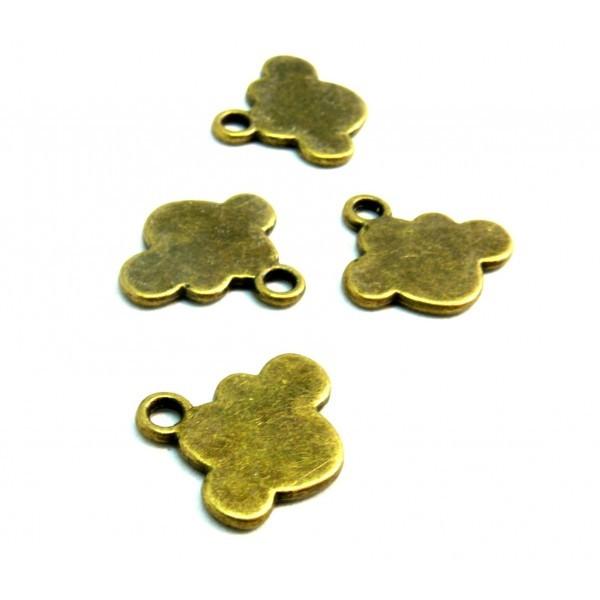 PS110209725 PAX 10 pendentifs Nuage métal couleur Bronze - Photo n°1