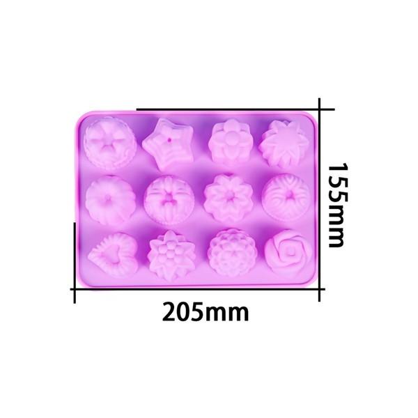 PS11700013 PAX 1 Moule en Silicone pendentif mini MOULE EN SILICONE Cupcake, Jelly 20.5x15.5cm 12 e - Photo n°1
