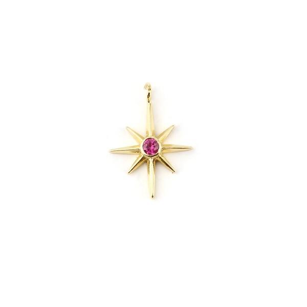 S11694603 PAX 2 Etoiles, Galaxie avec Rhinestone Rose Cuivre coloris Doré - Photo n°1