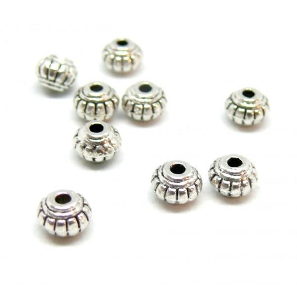 PS11102147 PAX 50 perles intercalaire Rondelle Ethnique - Photo n°1