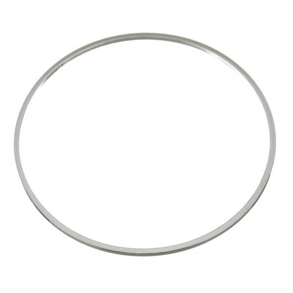 BU11191008181047 PAX 10 pendentifs grand anneau connecteur fermé rond 40mm Laiton couleur Argent Pl - Photo n°1