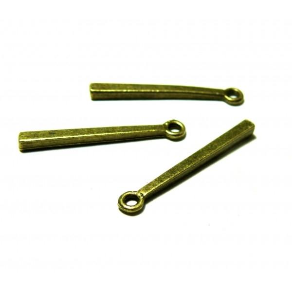 PS1128908 PAX 25 pendentifs breloque Tige tube rectangle metal couleur Bronze - Photo n°1