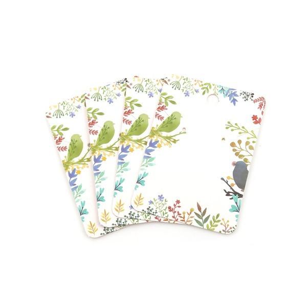 PS110118457 PAX 20 cartes de présentation Rectangle pour boucles d'oreilles Oiseaux - Photo n°1
