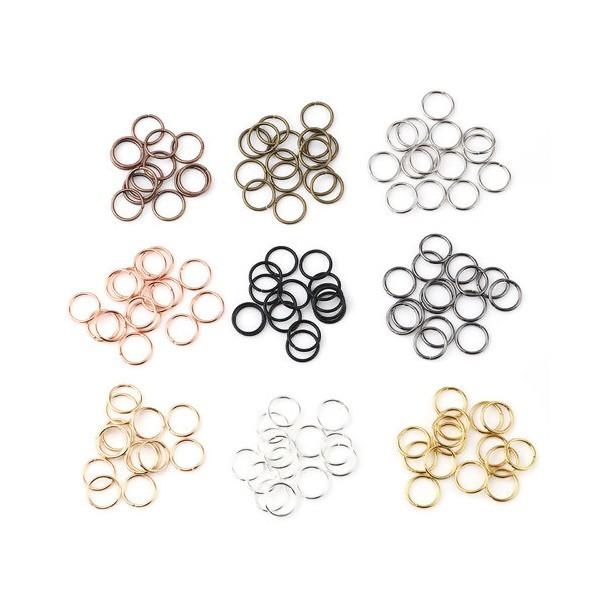 S11671628 PAX 200 anneaux de jonction 10 mm par 1 mm métal 9 Couleurs - Photo n°1