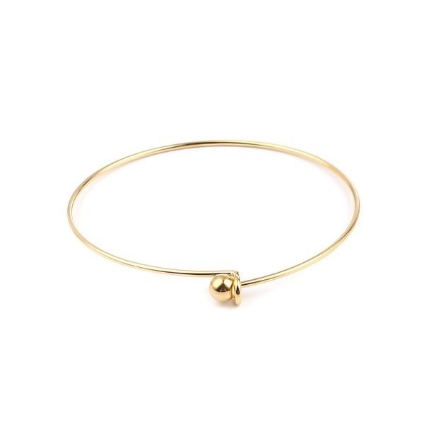 S11661346 PAX: 1 Support de Bracelet Jonc avec Bille en ACIER INOXYDABLE 304 Coloris Doré - Photo n°1
