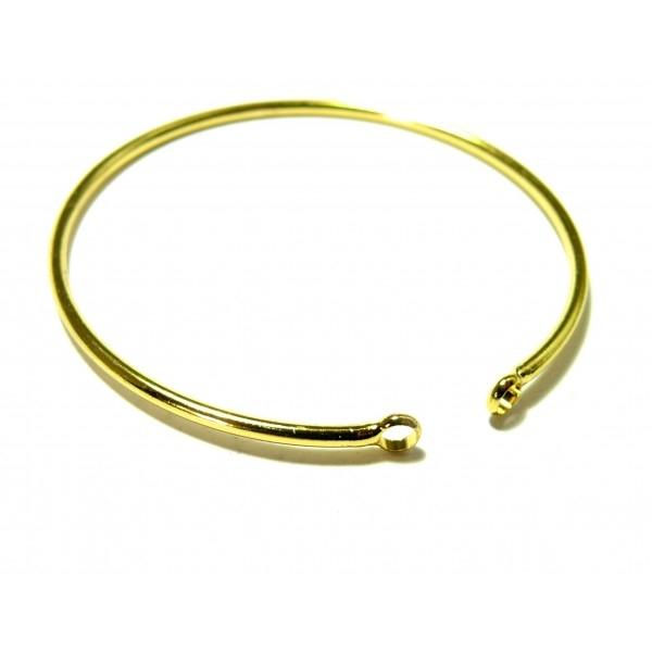 BN1129449 PAX 1 Support bracelet Jonc avec anneau 55mm Laiton couleur Doré - Photo n°1