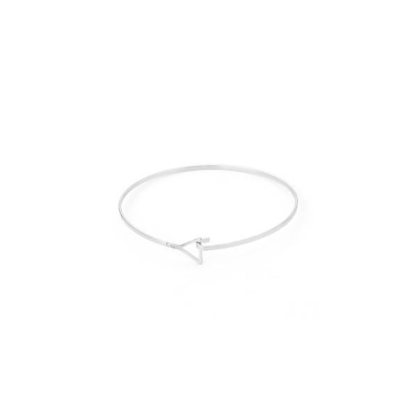S110115369 PAX 1 Support bracelet Jonc avec Triangle Cuivre couleur Argent Platine - Photo n°1
