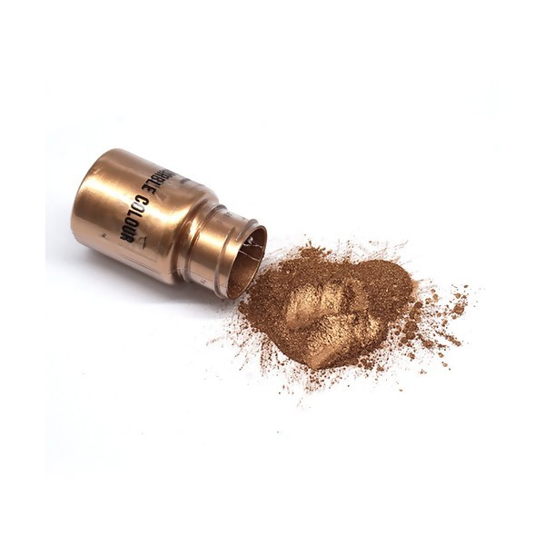 S11671431 lot 1 flacon de 25gr Poudre Effet metallique Bronze pour la pâte polymère , création de r - Photo n°1