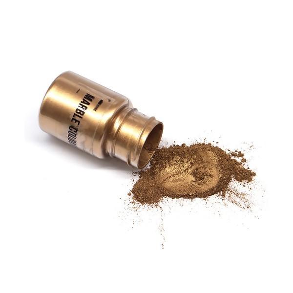 S11671430 Lot 1 flacon de 25gr Poudre Effet metallique Doré Foncé pour la pâte polymère , création - Photo n°1