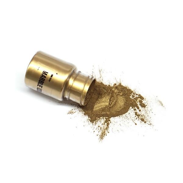 S11671429 Lot 1 flacon de 25gr Poudre Effet metallique Doré Clair pour la pâte polymère , création - Photo n°1