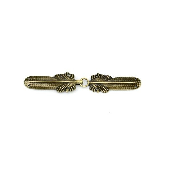 S11055157 PAX 1 pendentif crochet fermoirs à crochet Plume coloris Bronze - Photo n°1