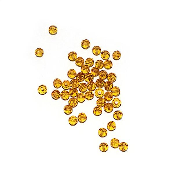 Perle ronde à facettes cristal 4 mm Topaz x10 - Photo n°1