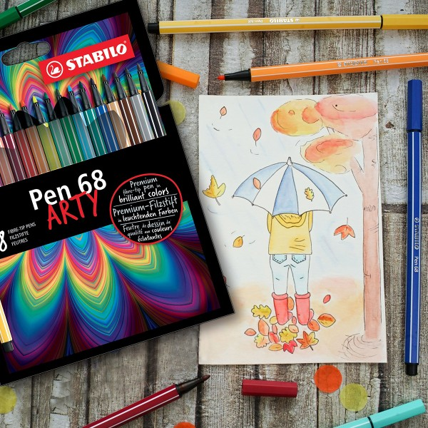 Feutres Stabilo Pen 68 Arty - 24 pcs - Photo n°2