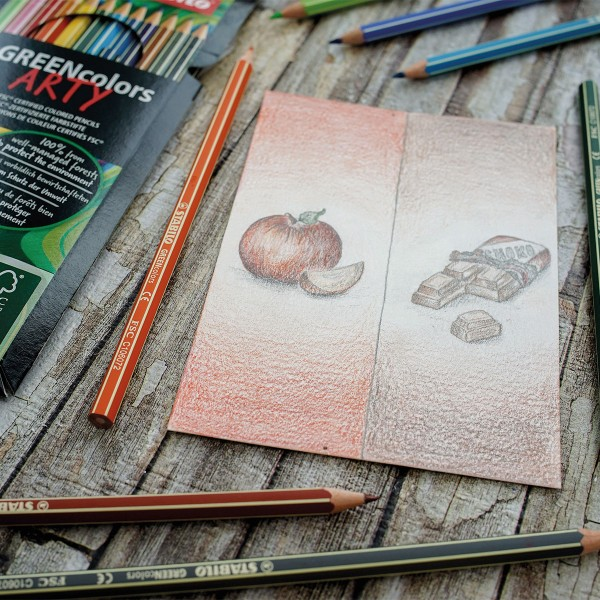 Crayons de couleur Greencolors Arty - 12 pcs - Photo n°2