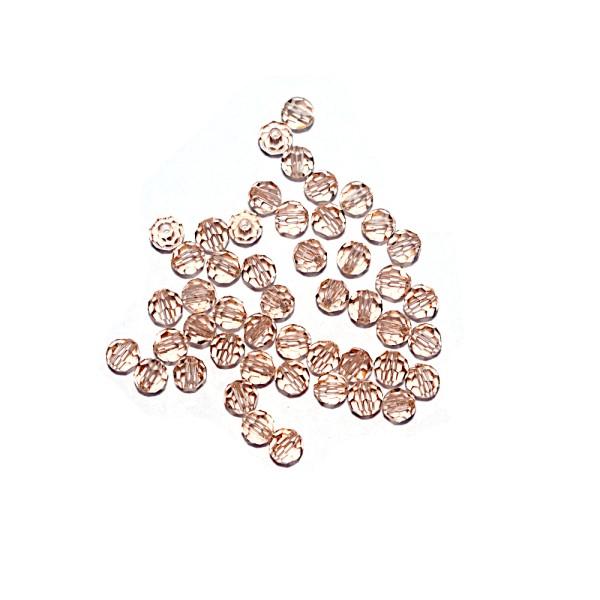 Perle ronde à facettes cristal 4 mm Peach x10 - Photo n°1
