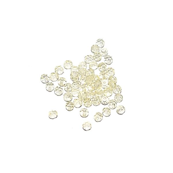 Perle ronde à facettes cristal 4 mm Jonquil x10 - Photo n°1