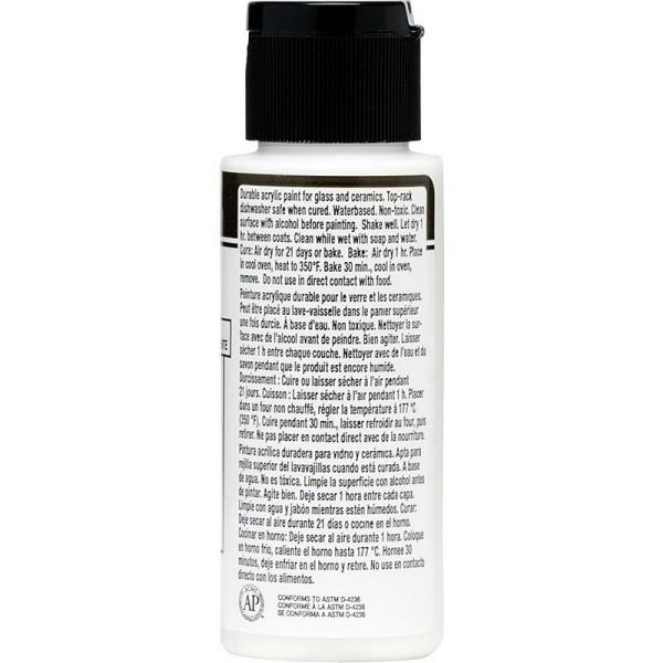 Clear Medium de FolkArt Enamel, 59 ml, peinture acylique Lustre pour porcelaine et verre - Photo n°2