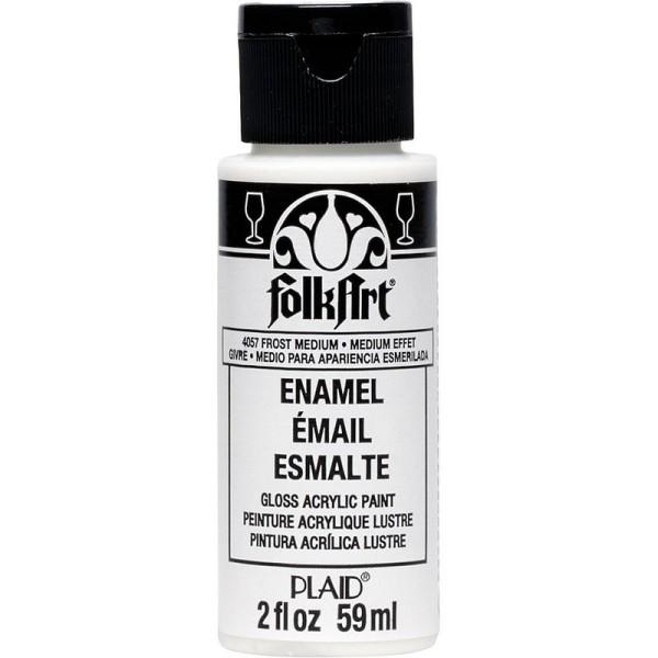 Frost Médium Enamel, FolkArt, 59 ml, effet Givré pour porcelaine et verre - Photo n°1