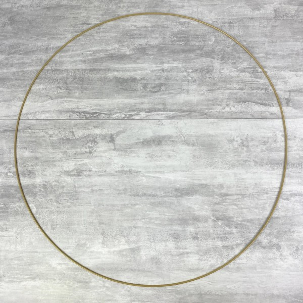 Grand Cercle XXL métallique doré ancien, diam. 80 cm pour abat-jour, Anneau epoxy or Attrape rêves - Photo n°1
