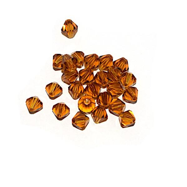 Toupie à facettes cristal 6x6 mm Topaz x10 - Photo n°1