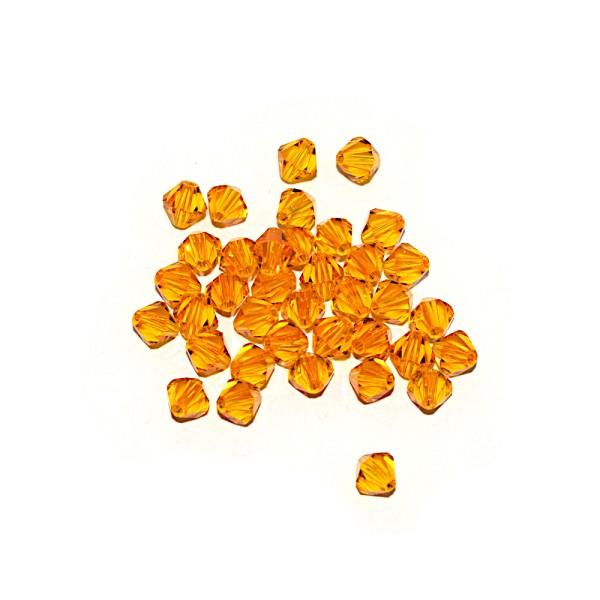 Toupie à facettes cristal 6x6 mm Fireopal x10 - Photo n°1