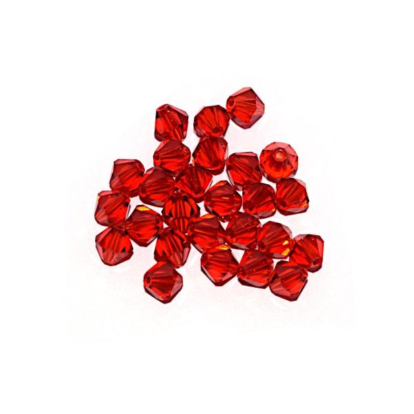 Toupie à facettes cristal 6x6 mm Light Siam x10 - Photo n°1