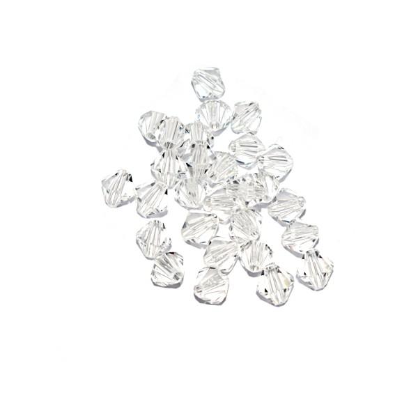 Toupie à facettes cristal 6x6 mm Crystal x10 - Photo n°1