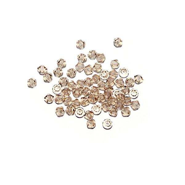 Toupie à facettes cristal 3x3 mm Light Colorado Topaz x10 - Photo n°1