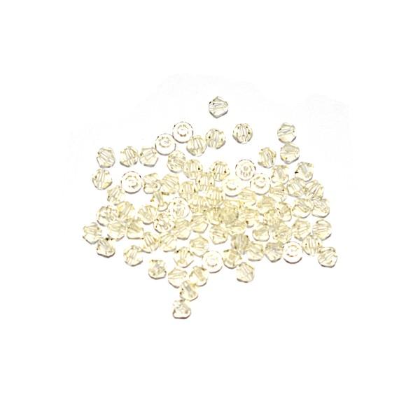 Toupie à facettes cristal 3x3 mm Jonquil x10 - Photo n°1