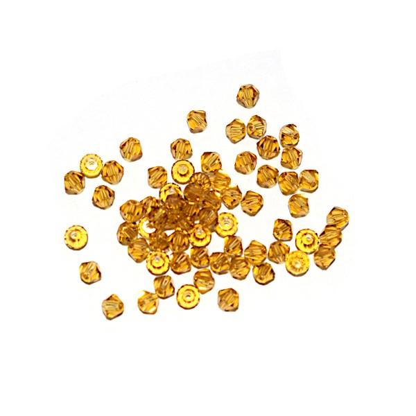 Toupie à facettes cristal 3x3 mm Colorado Topaz x10 - Photo n°1