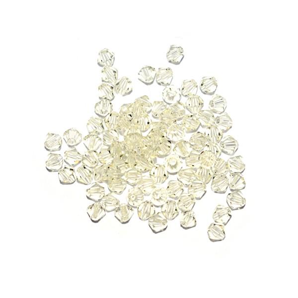 Toupie à facettes cristal 4x4 mm Jonquil x10 - Photo n°1