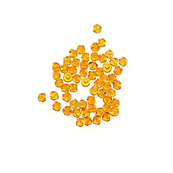 Toupie à facettes cristal 4x4 mm Fireopal x10 - Photo n°1