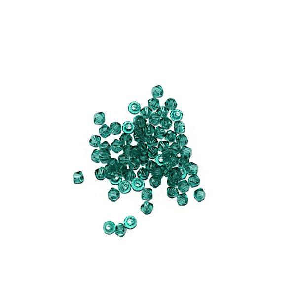 Toupie à facettes cristal 3x3 mm Emerald x10 - Photo n°1