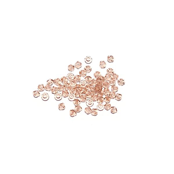 Toupie à facettes cristal 3x3 mm Peach x10 - Photo n°1