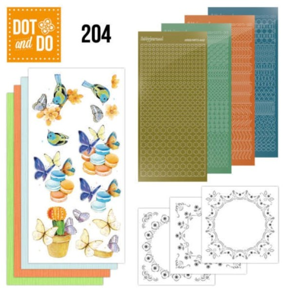 Dot and do 204 - kit Carte 3D - Papillons - Photo n°1