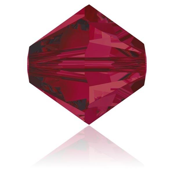 Toupie 4 mm Swarovski Ruby x10 - Photo n°1