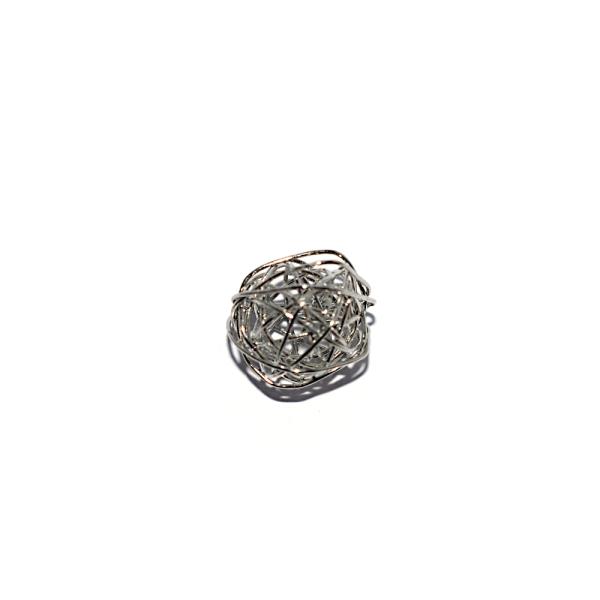 Perle noeud 11x10 métal argenté - Photo n°1