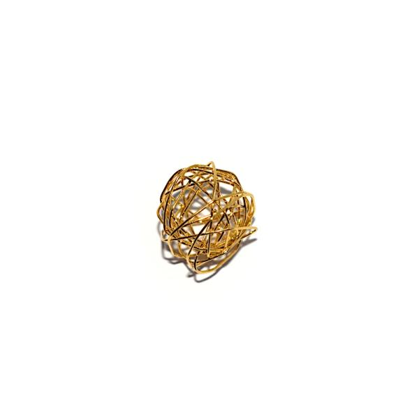 Perle noeud 11x10 métal doré - Photo n°1