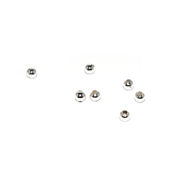 Perle ronde en métal argenté 2,5 mm x10 - Photo n°1