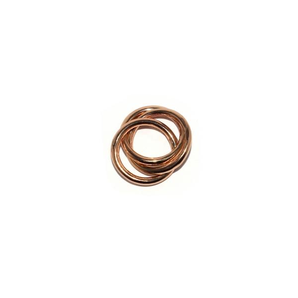 Pendentif anneaux entremélés 17 mm métal doré - Photo n°1