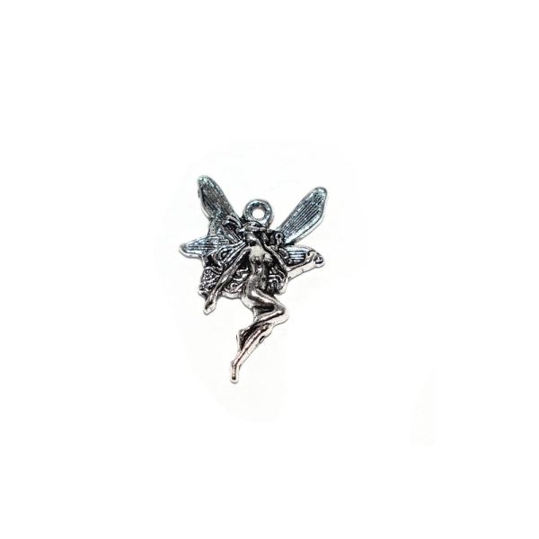 Breloque fée 21x15 mm métal argenté - Photo n°1