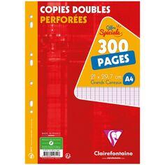Copies doubles perforées A4 - Grands carreaux - 300 pages