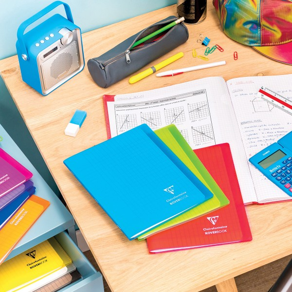 Cahier Koverbook Grands-carreaux avec protège-cahier intégré - 17 x 22 cm - 96 pages - Photo n°3