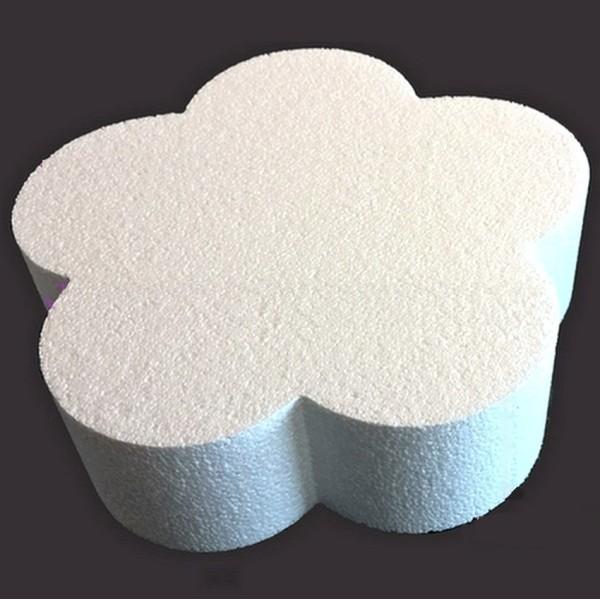 Grand Socle plat Fleur 2D en polystyrène blanc, Diamètre 50 cm x Epais. 7cm, Support pour centre de - Photo n°2