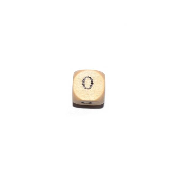 Lettre O cube 12 mm bois naturel écriture noir - Photo n°1